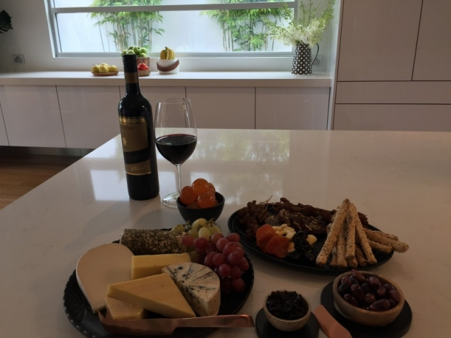 TV Shoot - Cheese and a Kingston Estate Red