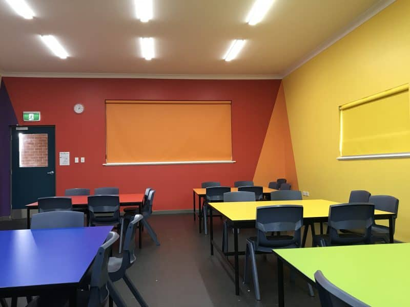 Art Room designed as an educational tool featuring the colour wheel
