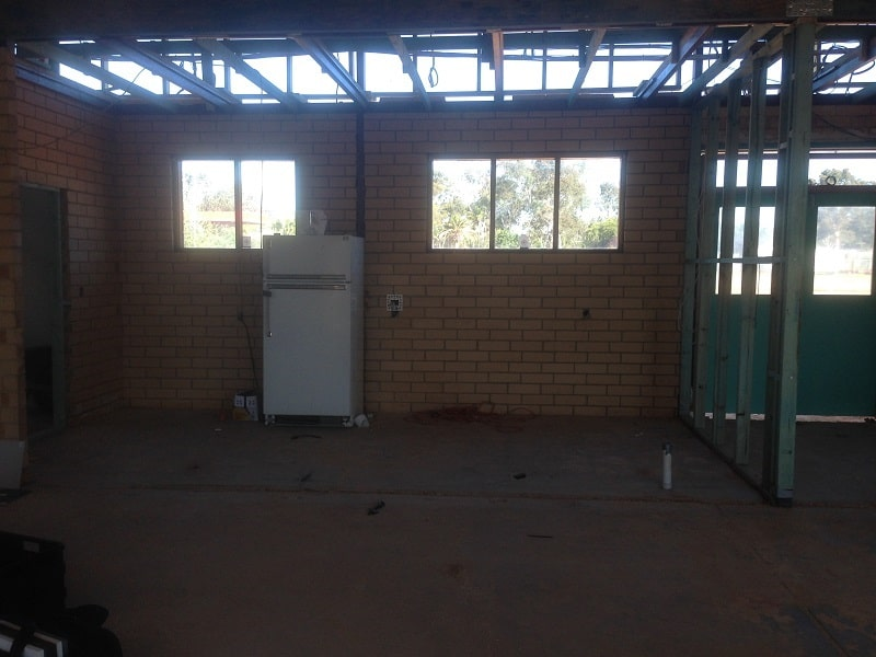 Before - Community Kitchen, Caravan park