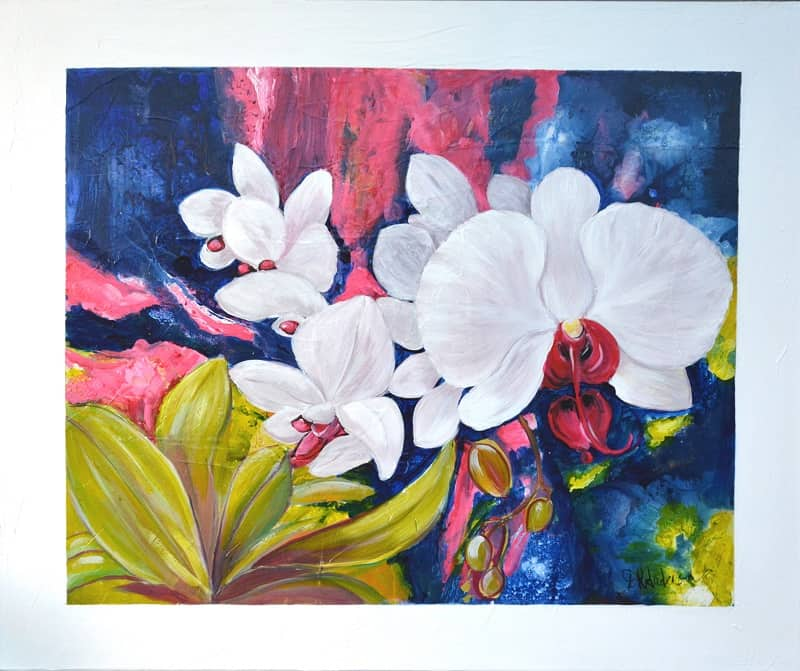IRIS SPECTACULAR - 1200w x 1000h x 40d - Acrylic Paint on Canvas $1070 Artist: Dawn Anderson