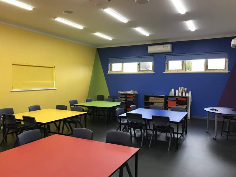 Art Room designed as an educational tool featuring the colour wheel.