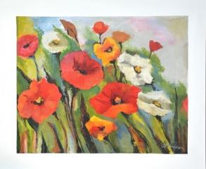 POPPY FIELD - 1200w x 1000h x 40d - Acrylic Paint on Canvas $1070 Artist: Dawn Anderson