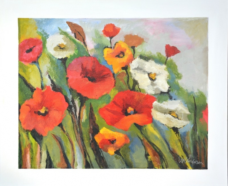 POPPY FIELD - 1200w x 1000h x 40d - Acrylic Paint on Canvas $1070 Artist: Dawn Anderson