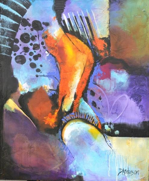 RHAPSODY - 1000w x 1200h x 40d - Acrylic Painted Canvas -$1070 Artist: Dawn Anderson