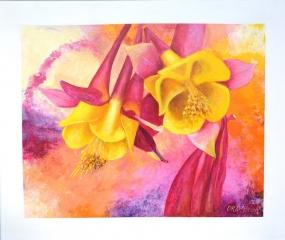 SYMPHONY - 1200w x 1000h x 40d - Acrylic Paint on Canvas $1070 Artist: Dawn Anderson